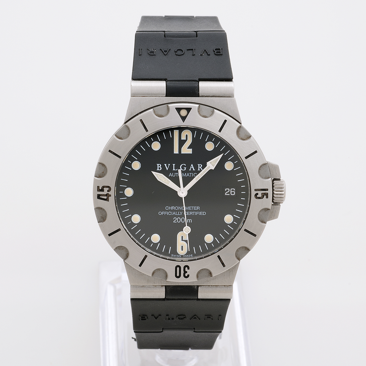 uk availability 494c0 fb68a Bvlgari Scuba SD38S | Vintage And Prestige
