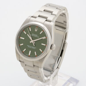 Rolex Oyster Perpetual Olive Green 114200