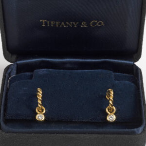 Tiffany & Co Gem Drop Diamond Hoop Earrings
