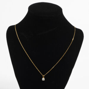 18k yellow gold necklace J448_1