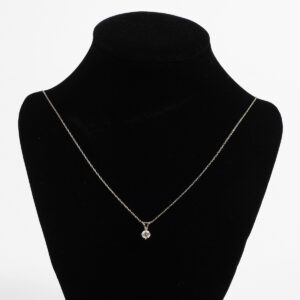 White gold diamond necklace J449_1