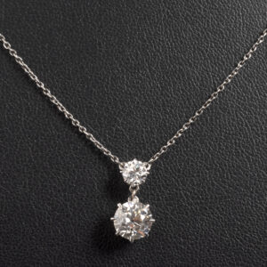 Victorian Diamond drop necklace