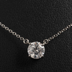 Solitaire diamond necklace 1.19ct