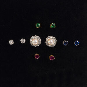 interchangeable stone ear studs
