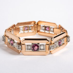 Victorian Garnet and Diamond bracelet