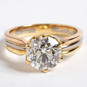 Solitaire diamond ring 2.25ct