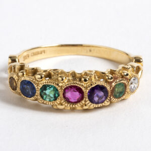 """Dearest"" ring in 18k yellow gold"