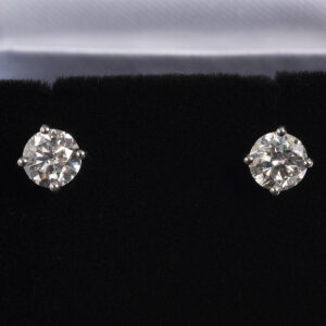 Diamond Ear studs, 1.12ct