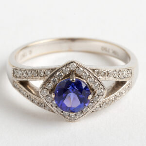 Tanzanite and Diamond dress ring