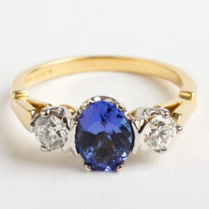 Diamond and Tanzanite Trilogy ring