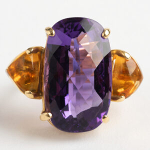 Amethyst and citrine Dress ring