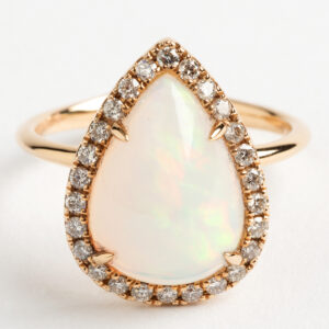 Pear Opal and diamond Dress ring