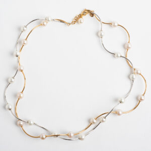 Elaine Firenze twisted pearl double necklet