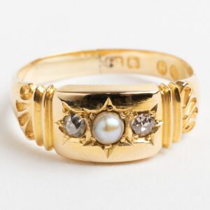 Victorian boat shape ring