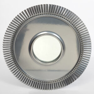 Rolls Royce Avon jet engine fan blade mirror