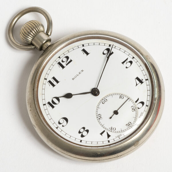 Rolex pocket watch case by Calcort with cal 590 movement WW2 W3481_2