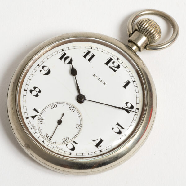 Rolex pocket watch case by Calcort with cal 590 movement WW2 W3481_3